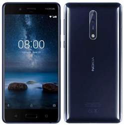 Мобильный телефон  Nokia 8 64GB Dual (4GB RAM) Tempered Blue